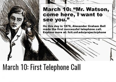 "March 10: ""Mr. Watson, Come Here"""