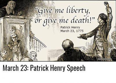 March 23: Patrick Henry