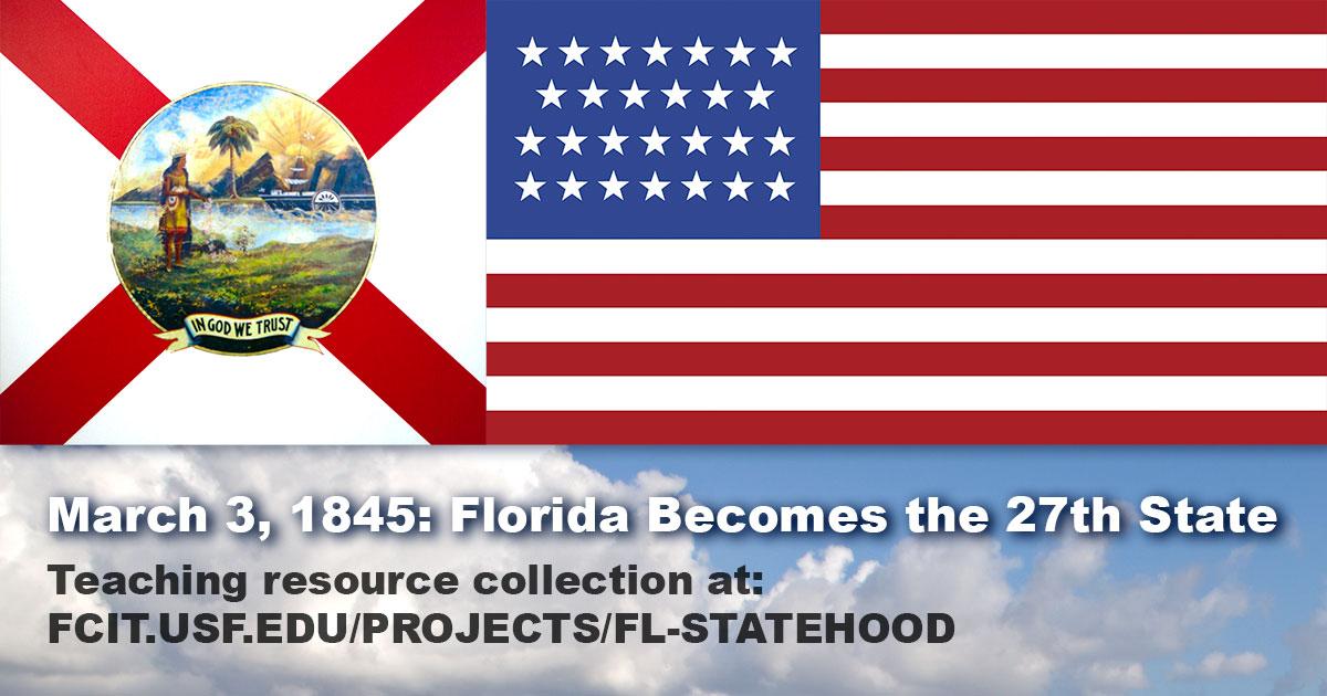 Image result for florida statehood