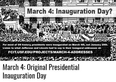 March 4: Inauguration Day?