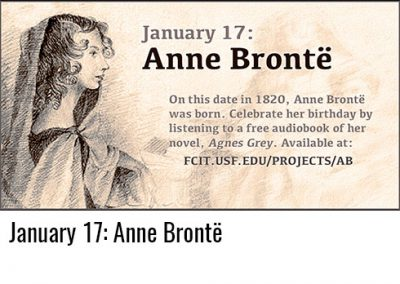 January 17: Anne Brontë