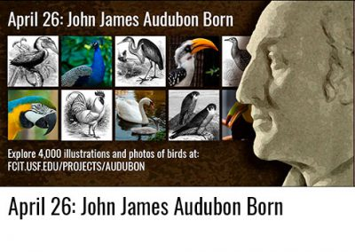 April 26: John James Audubon Born