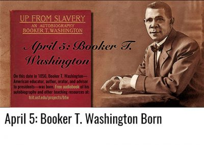 April 5: Booker T. Washington