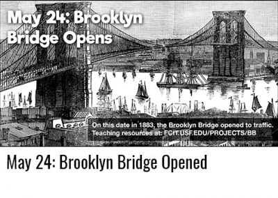 May 24: Brooklyn Bridge Opened to Traffic