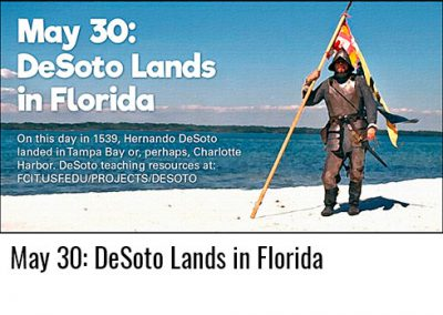 May 30: De Soto Lands in Florida