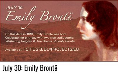 July 30: Emily Brontë