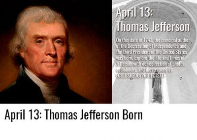 April 13: Thomas Jefferson Born