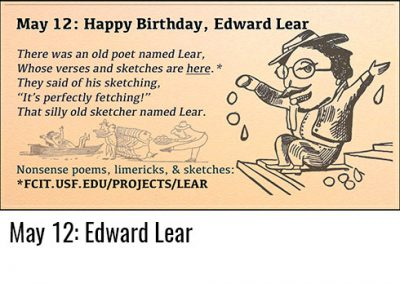 May 12: Edward Lear