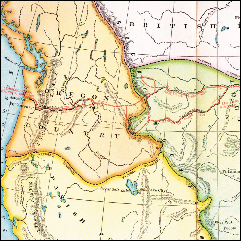May Oregon Trail FCIT - 1806 map of the us
