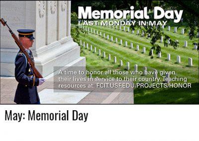 May: Memorial Day
