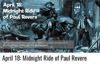 April 18: Midnight Ride of Paul Revere
