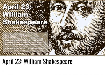 April 23: William Shakespeare