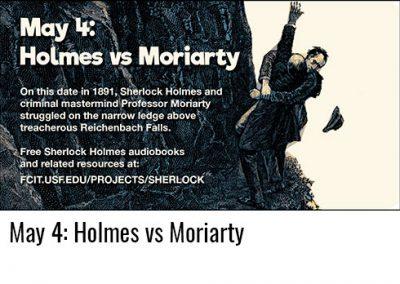 May 4: Holmes vs Moriarty
