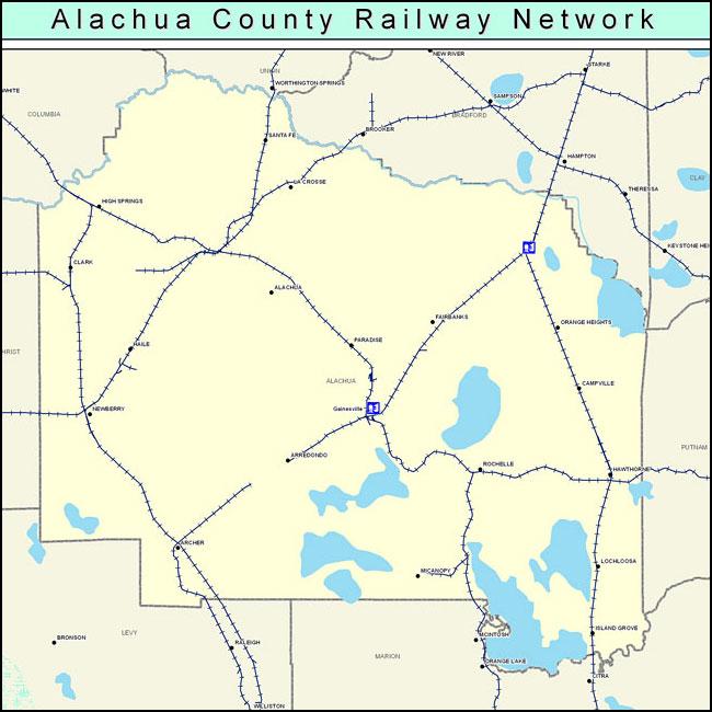 Citrus Cove Florida Map.County Railway Network Color