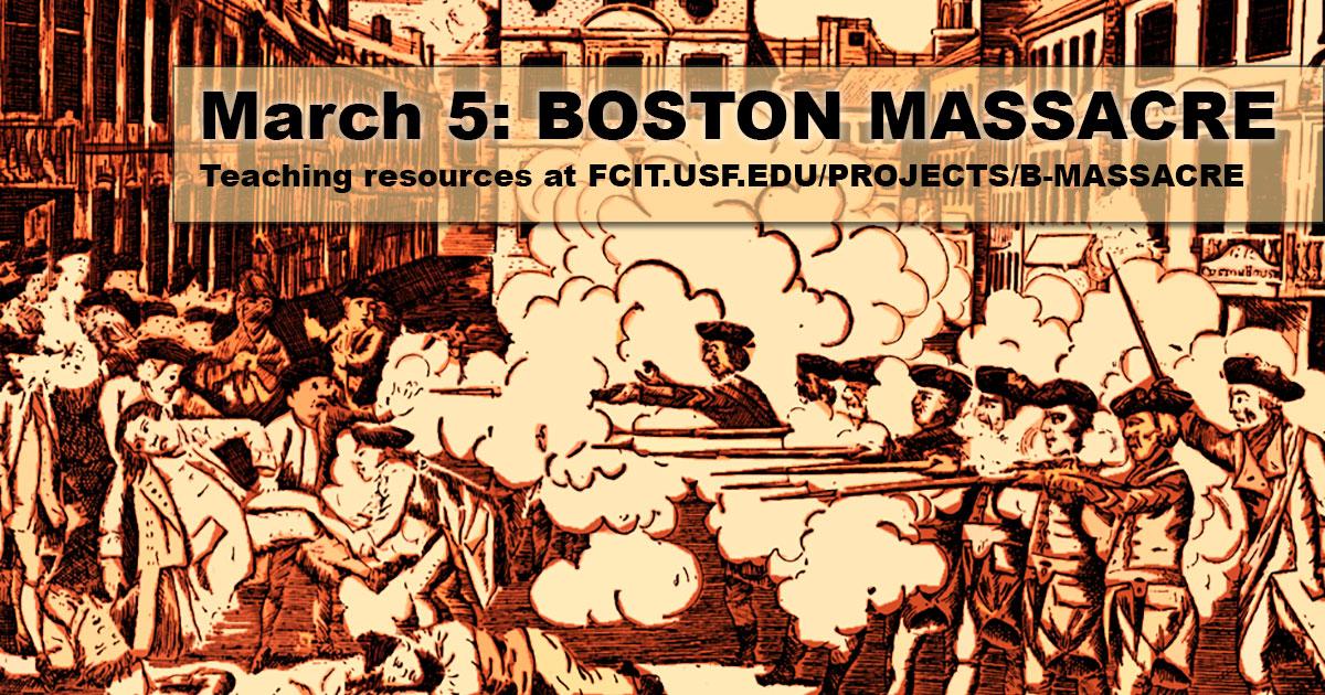 Date of boston massacre