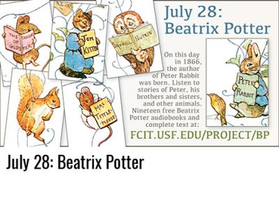 July 28: Beatrix Potter