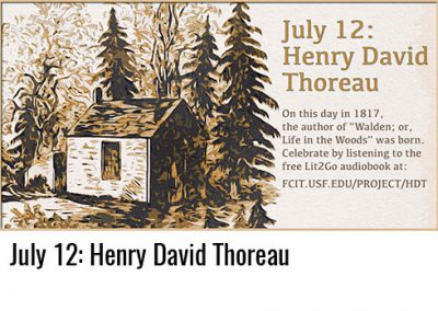 July 12: Henry David Thoreau