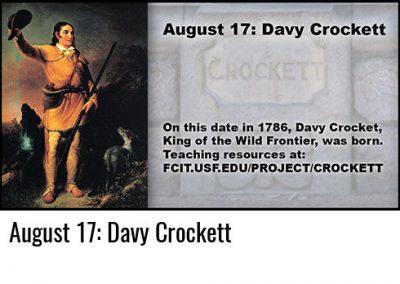 August 17: Davy Crockett