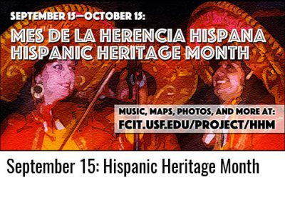 September 15: Hispanic Heritage Month Begins