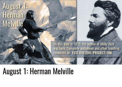 August 1: Herman Melville