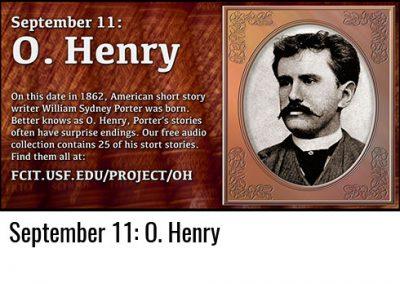 September 11: O. Henry