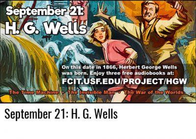 September 21: H. G. Wells
