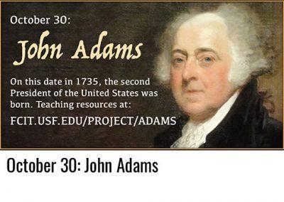 October 30: John Adams