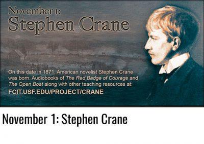 November 1: Stephen Crane