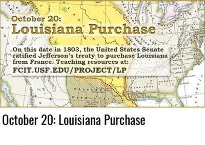 October 20: Louisiana Purchase
