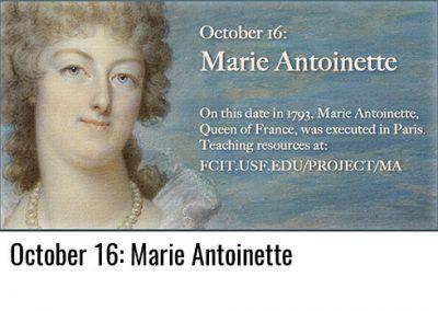 October 16: Marie Antoinette