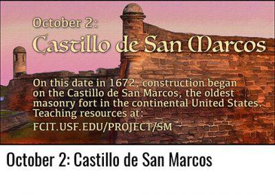 October 2: Castillo de San Marcos