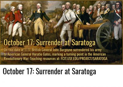 October 17: Surrender at Saratoga