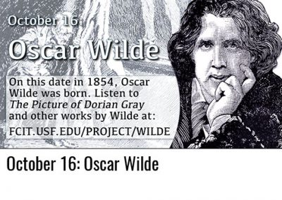 October 16: Oscar Wilde