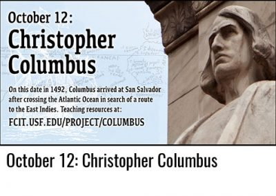 October 12: Christopher Columbus