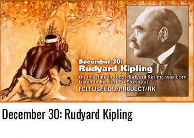 December 30: Rudyard Kipling