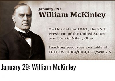 January 29: William McKinley