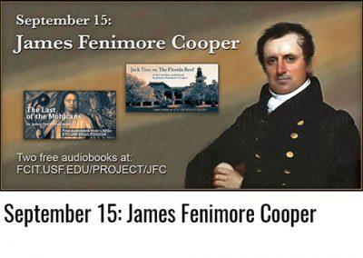 September 15: James Fenimore Cooper