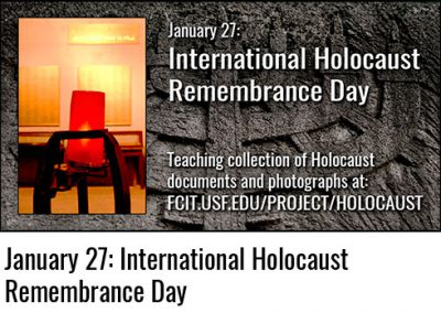 January 27: International Holocaust Remembrance Day