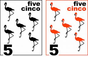 Counting flamingos poster