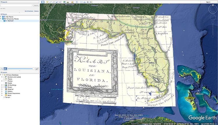 Historic Florida Maps And Google Earth Fcit