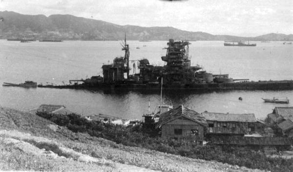 Japanese battleship hit by Colin P  Kelly II and his crew